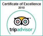 Tripadvisor certificate of exellence